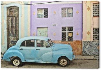 Cuba, La Habana, Broken Down Vintage Car