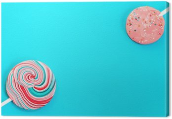 Vintage Blue Background With Two Candy