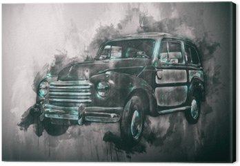 Stary obraz samochodu z ciemnym winiet