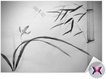 Dzika orchidea i bambusa