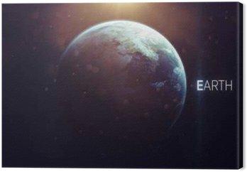 Ziemia - wysokiej rozdzielczości piękne sztuki prezentuje planety Układu Słonecznego. Ten obraz elementy dostarczone przez NASA