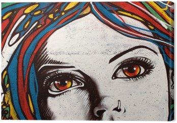 Nowoczesny styl graffiti na ceglany mur.