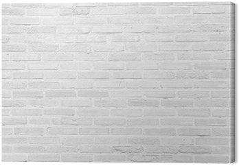 White grunge brick wall texture background