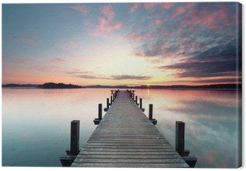 Sommermorgen mit Sonnenaufgang