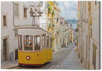 Kolejki Lizbony Gloria łączy centrum z dzielnicy Bairro Alto.