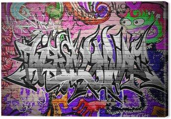 Graffiti wektora. mur miejski z farby w sprayu