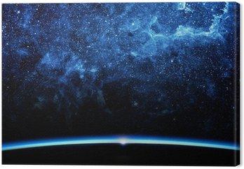 Earth and galaxy.