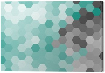 Pastel blue geometric hexagon pattern without contour.