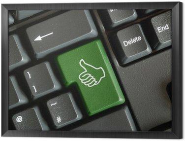 """""""Kciuki w górę"""" klawisz na klawiaturze"""