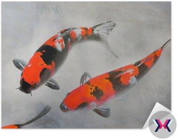 Bawełniane koi ryb ilustracji akwarela