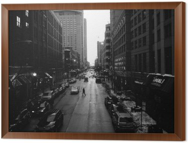 Black and White Chicago Streets