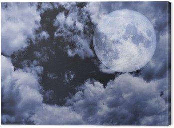 Pełnia księżyca i nieba w nocy. Księżyc zdjęcie dzięki uprzejmości NASA.