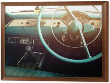 Classic car - vehicle interior  vintage