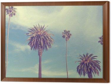 Palmy na plaży Santa Monica.