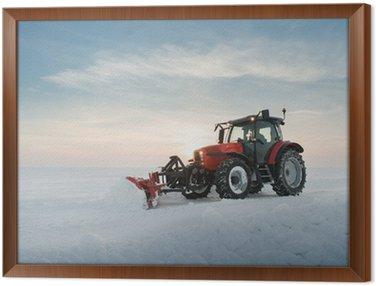 Sprzątanie śniegu ciągnik