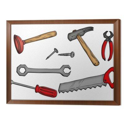 Narzędzia, młotek, piła, Pömpel, klucze,
