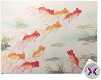 Chińskie malowanie rybka