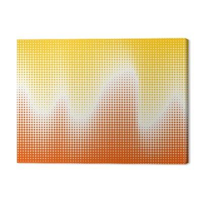 Streszczenie półtonów fala w ciepłych kolorach. tło wektor