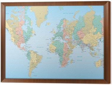 Mapa świata z strefami czasowymi
