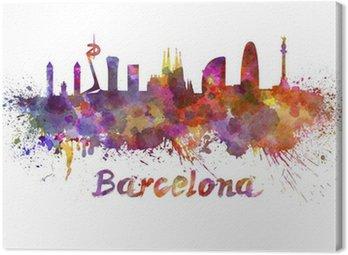 Barcelona skyline w akwarela