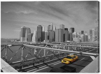 Brooklyn Bridge taksówki w Nowym Jorku