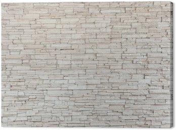 Białe płytki kamienne ściany tekstury cegły