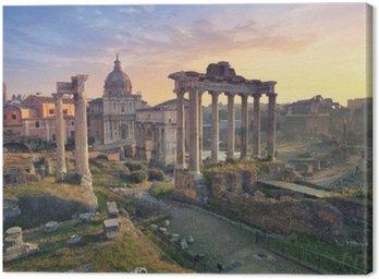 Forum Romanum. Obraz z Forum Romanum w Rzymie podczas wschodu słońca.