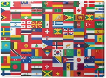 Bez szwu tła z niektórych flag świata