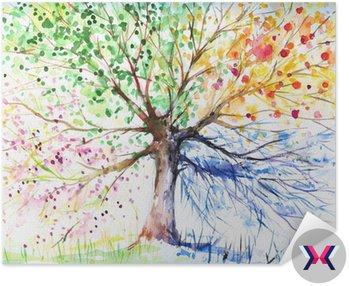 Cztery pory roku drzewo