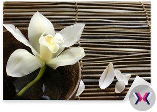 Miska orchidea, Płatek na maty bambusowe