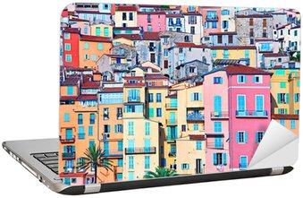 Podbródek pastelowe kolory domy, riwiera, Francja