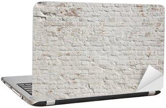 White grunge brick wall background
