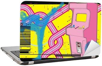 Ninja pokonać-em-up walki arcade w żółty i różowy.