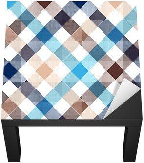 Blue beige diagonal check seamless fabric texture