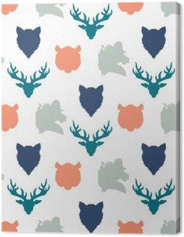 Wildlife seamless pattern