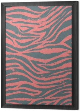 Vintage zebra black and red pattern