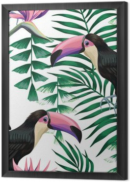 Tropikalny Tukan wzór
