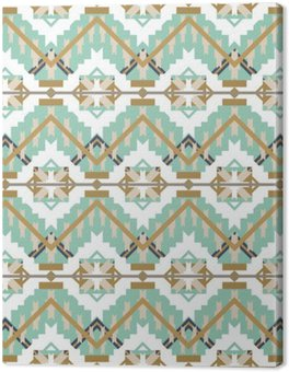 Aztec seamless pattern on white background. Ethnic abstract geometric texture. Hand drawn navajo fabric. Used for wallpaper, web page background, fabric, paper, postcards.
