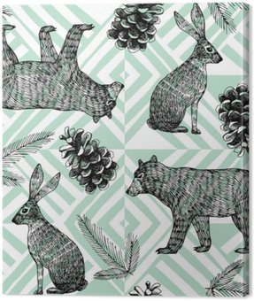 hand drawn winter trendy pattern, geometric background