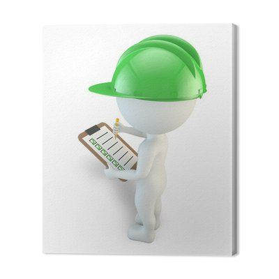 3D małych ludzi kontrolna lista bezpieczeństwa inspektor
