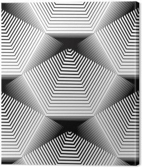 Geometric monochrome stripy seamless pattern, black and white ve
