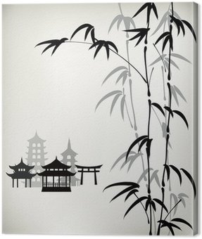 ink painted bamboo