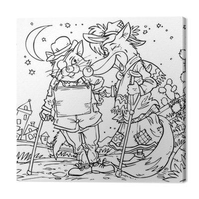 Nędznych kot i fox (bajkowy Pinokio)