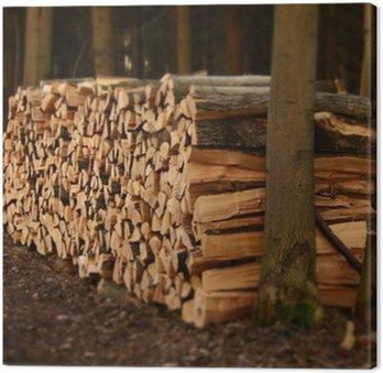 Do stos drewna opałowego Ułożone