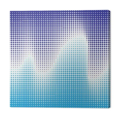 Streszczenie półtonów fala w kolorze niebieskim. tło wektor