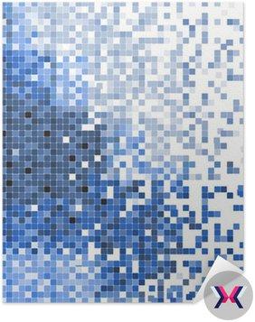 Mozaika niebieski streszczenie ilustracji wektorowych pixel