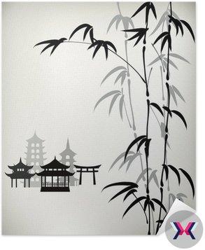Tusz malowane bambusa