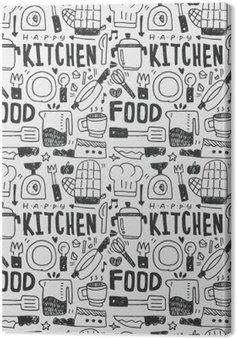 Kuchnia elementy ręcznie rysowane Doodles linia ikona, eps10