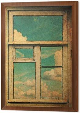 Obraz retro z okna