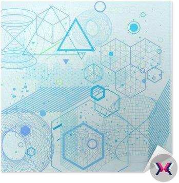 Święte symbole geometryczne i elementy tła